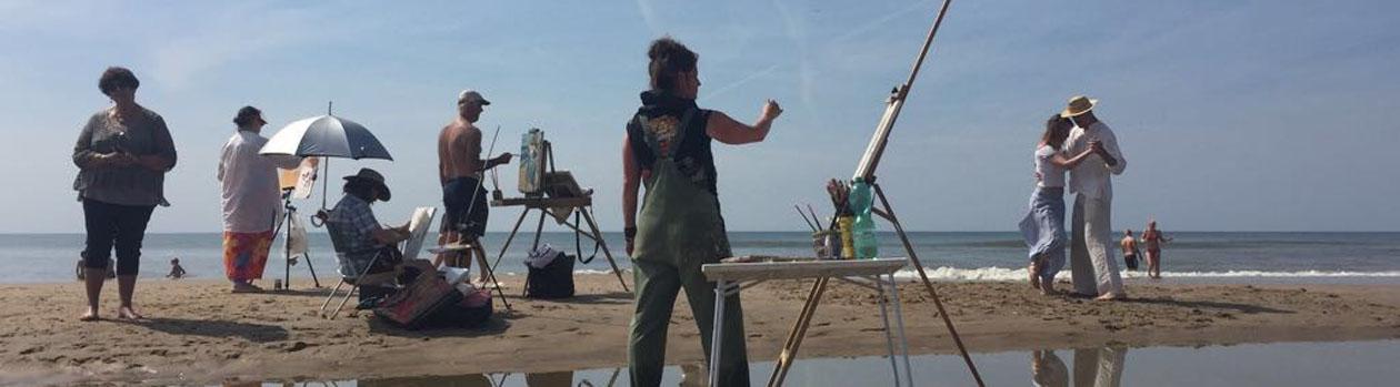 Op de pagina Over mijzelf stelt Marcelle Schoenmaker van het Atelier in Blaricum zich voor